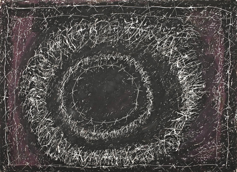 "SHOAH DETAIL, Wax Crayon on paper, 22"" X 30,"" 2013"