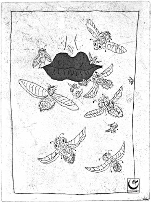 A la boca serada no entran moscas. Into a closed mouth flies cannot enter.