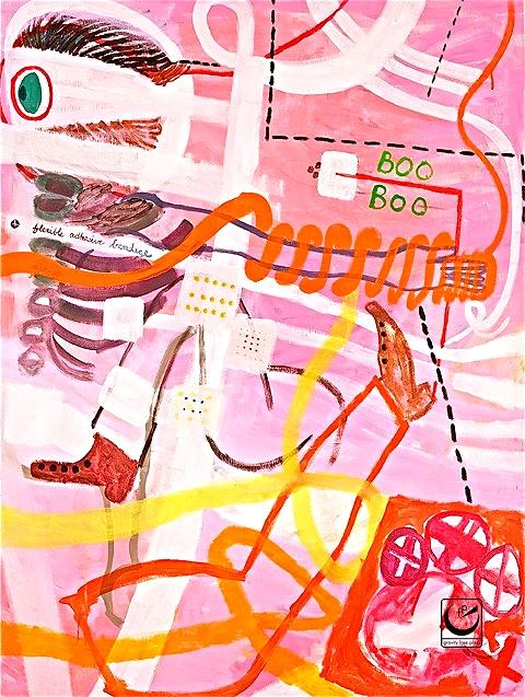 "Boo Boo, 24 x 30,"" Acrylic on canvas, 2011"