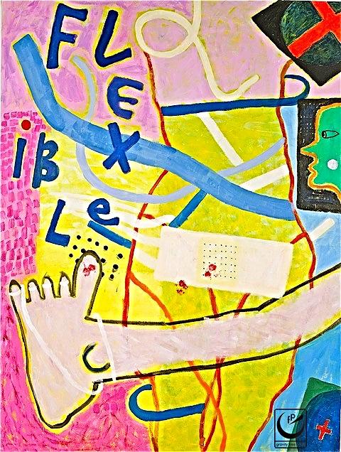 "Flexible, 24 x 30,"" Acrylic on canvas, 2011"