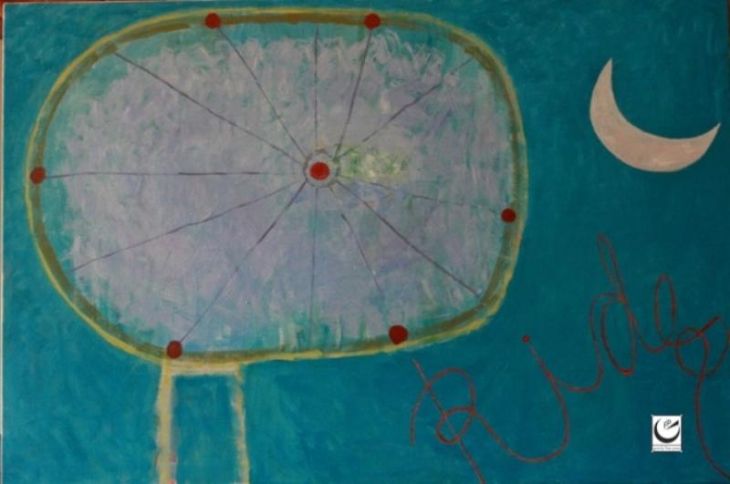 "Luna Rides, 40"" x 60,"" Acrylic on canvas, 2016"