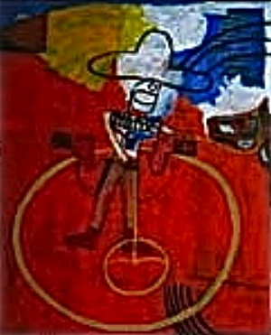 Cowboy and Horse  . Acrylic on canvas. 2008.