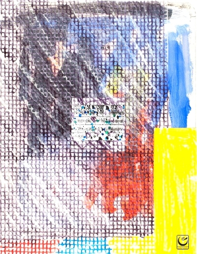 Summer, paint, rice paper, 8 x 10, 2014