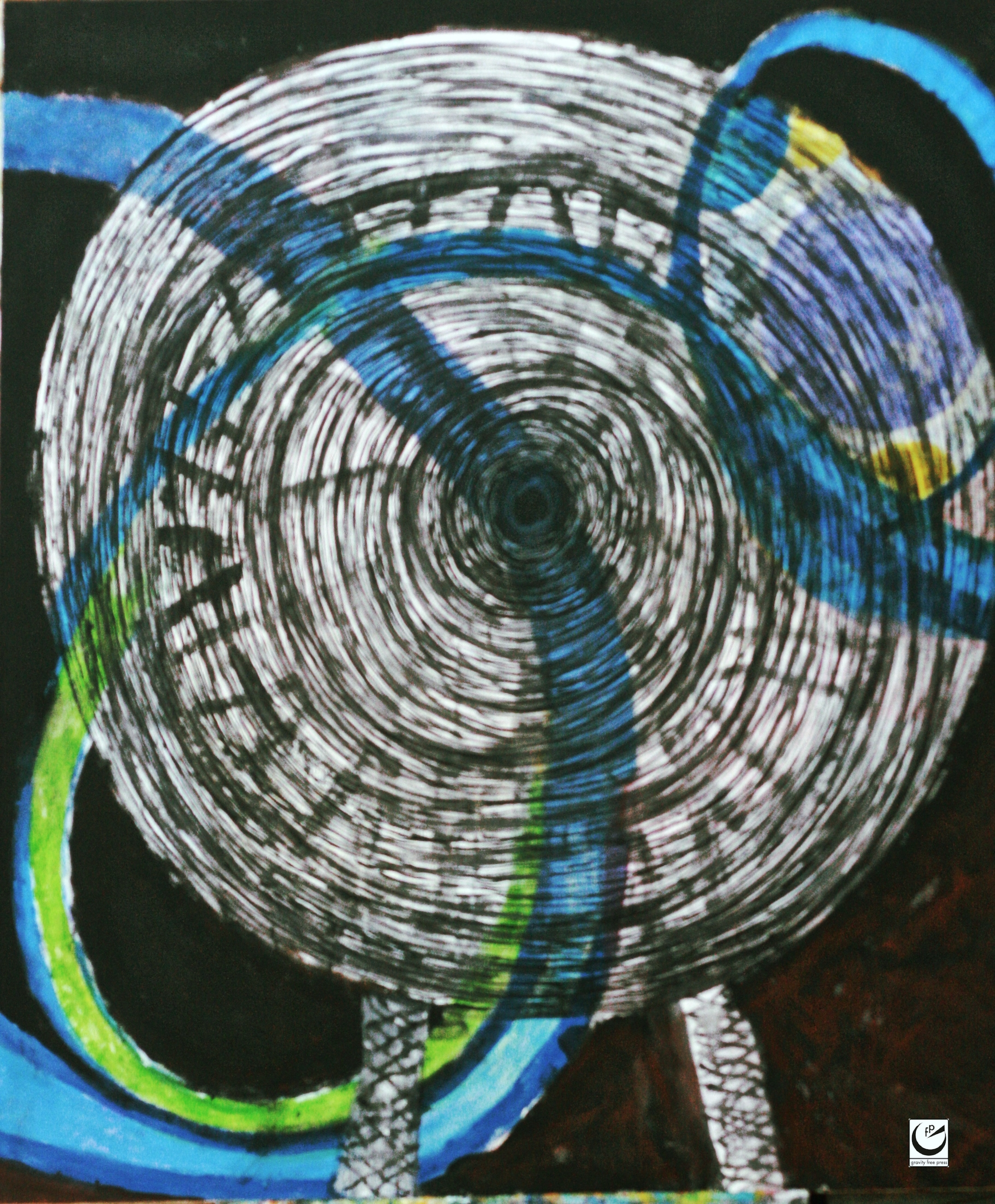 "Luna's Last Ride , 48"" x 54."" Acrylic on canvas, 2016"