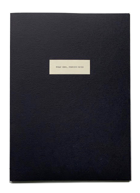 "Cheap Gems Precious Rocks, 2016.  16"" x 11.5"" x 1.75"" - 14 Pages. Edition of 10."
