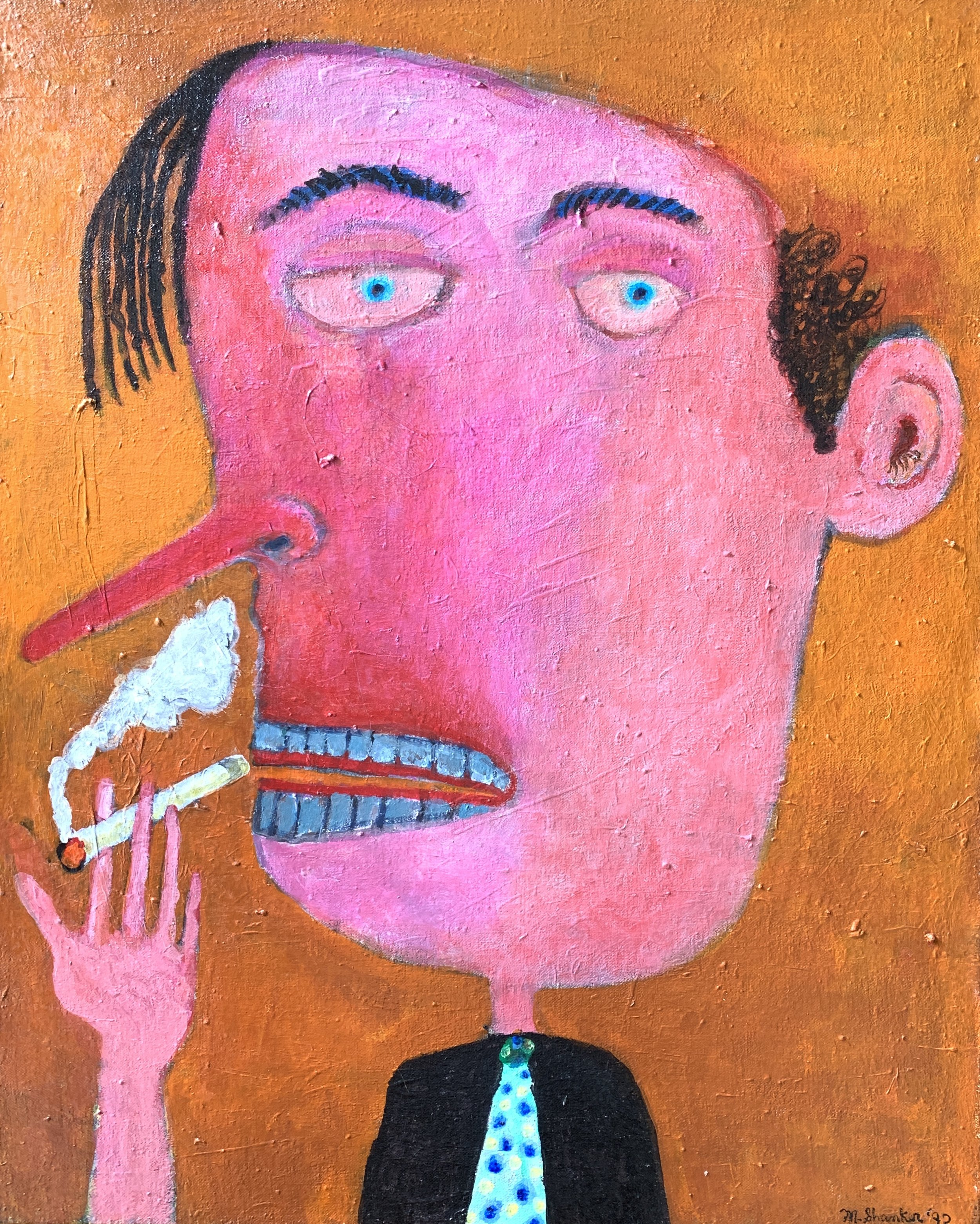Man with Cigarette, 1992