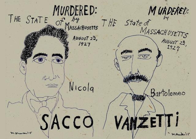 Sacco and Vanzetti, 2015. Drawing.