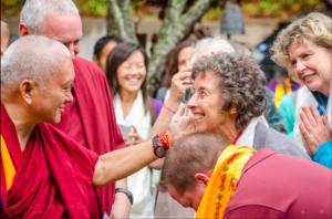 Lennie and Lama Zopa Rinpoche