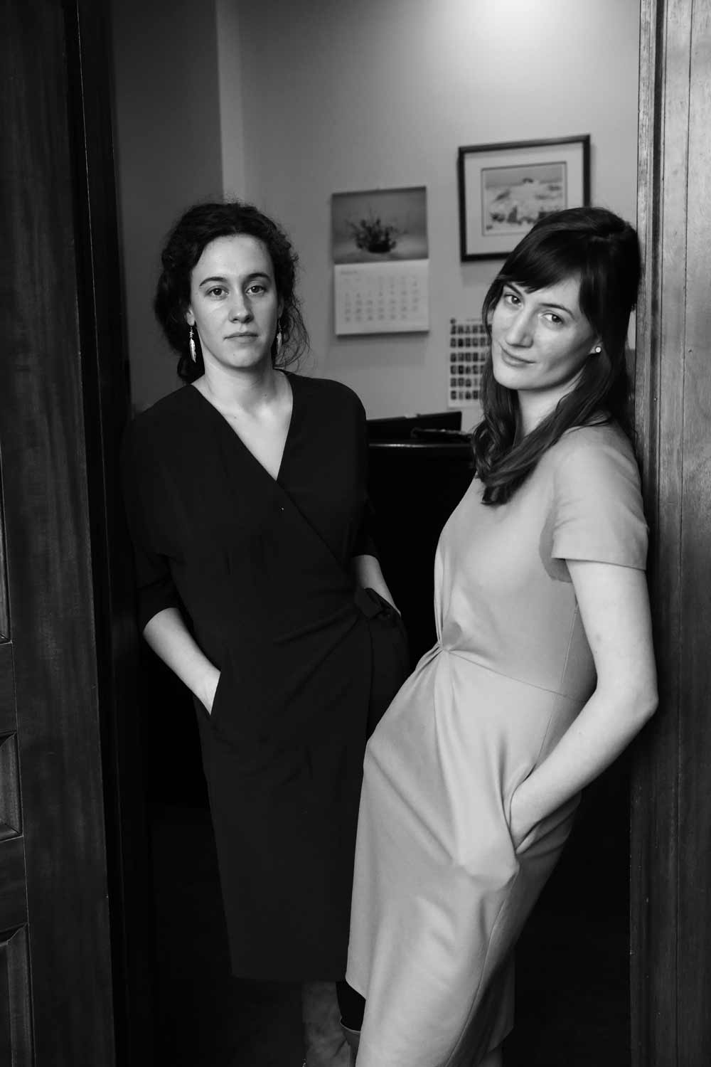 Laura Chartier (left) and Molly Carver, Legislative Aides