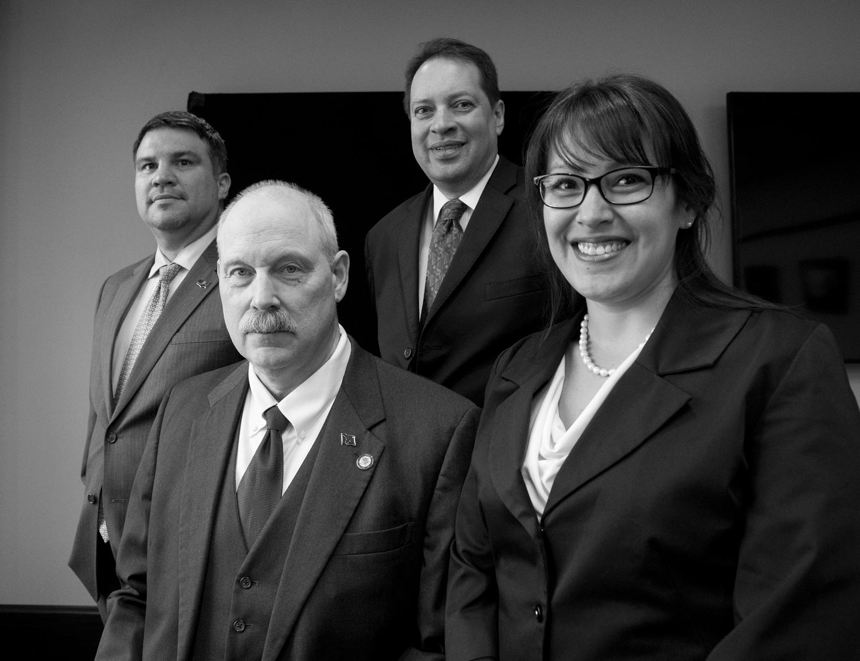 David Scott (from far left), Bert Stedman (Senator District R) , Randy Ruaro, Melissa Kookesh,