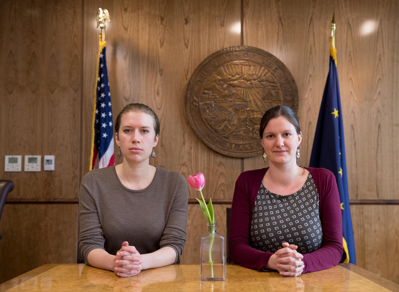 Bianca Carpeneti (left) and Tally Teal, Legislative Aides