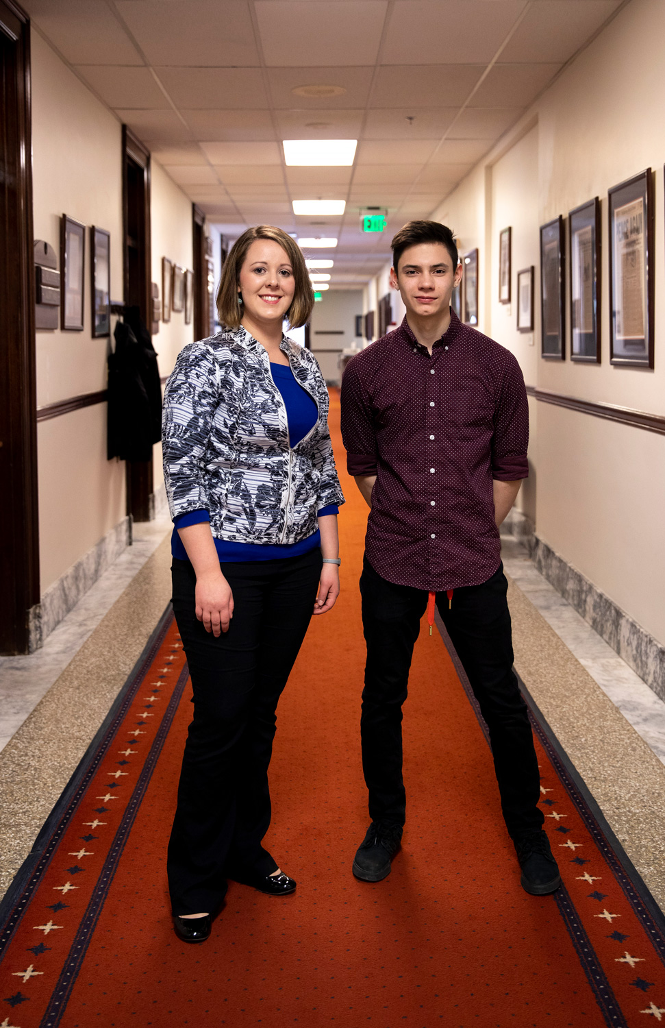 Audrey Stack, Clinic Director for the Alaska Center for Natural Medicine, and Gavin McGahan, 11th grade student with IDEA, both visiting from district 5 for the Rotary Youth Leadership Awards (RYLA)