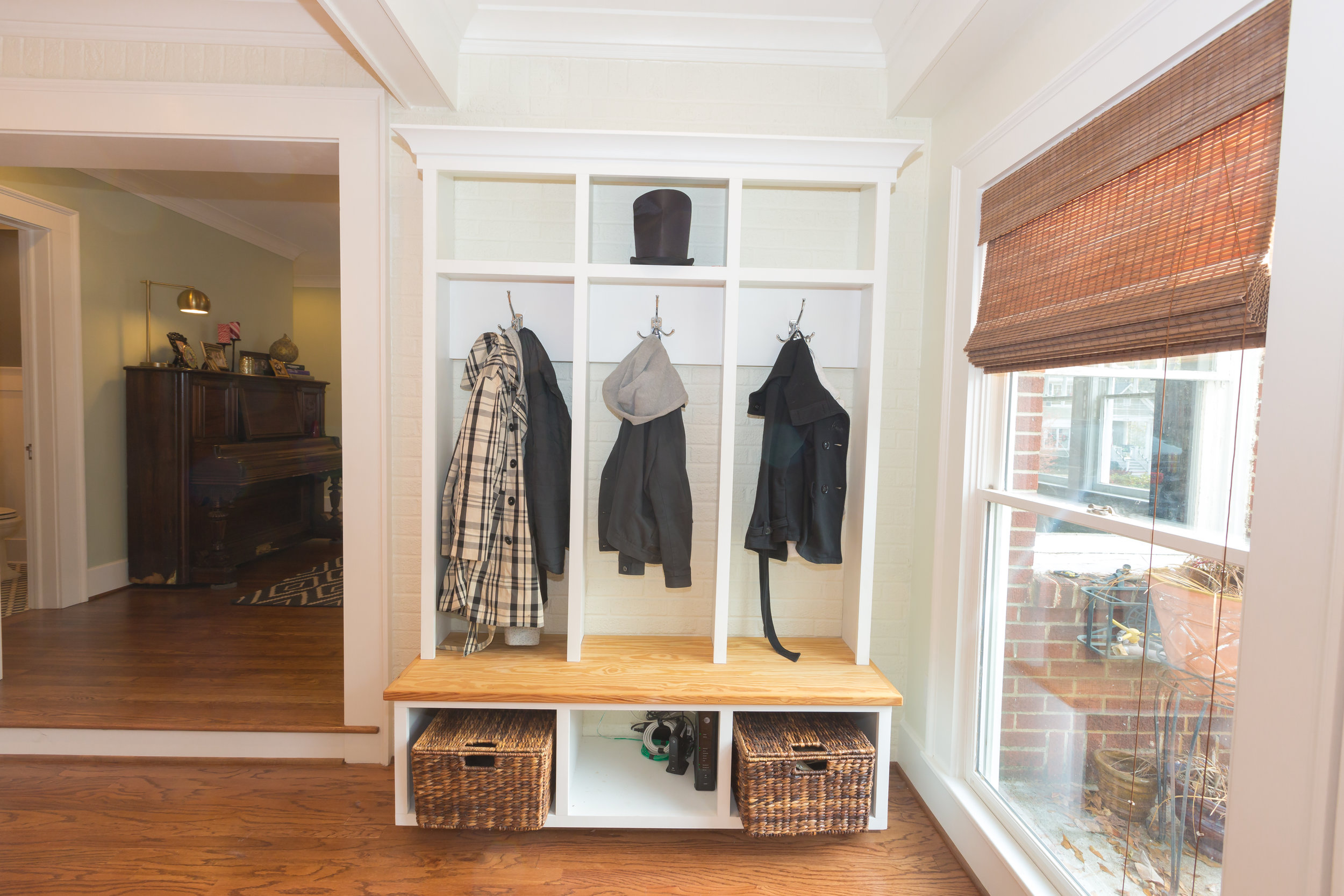Custom cubby system perfect for this large entry way.