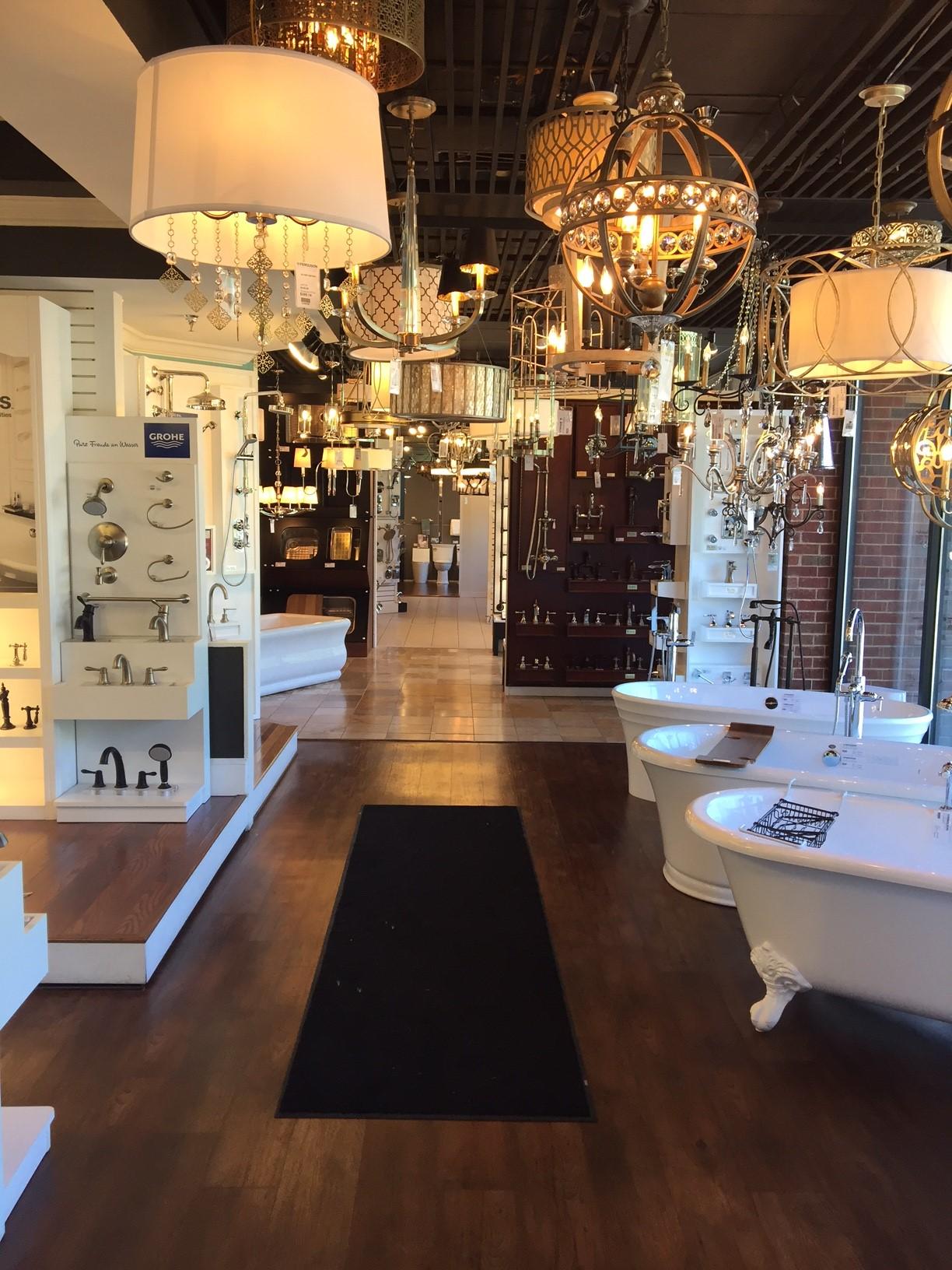 Ferguson's plumbing, lighting, and appliance showroom in Alpharetta
