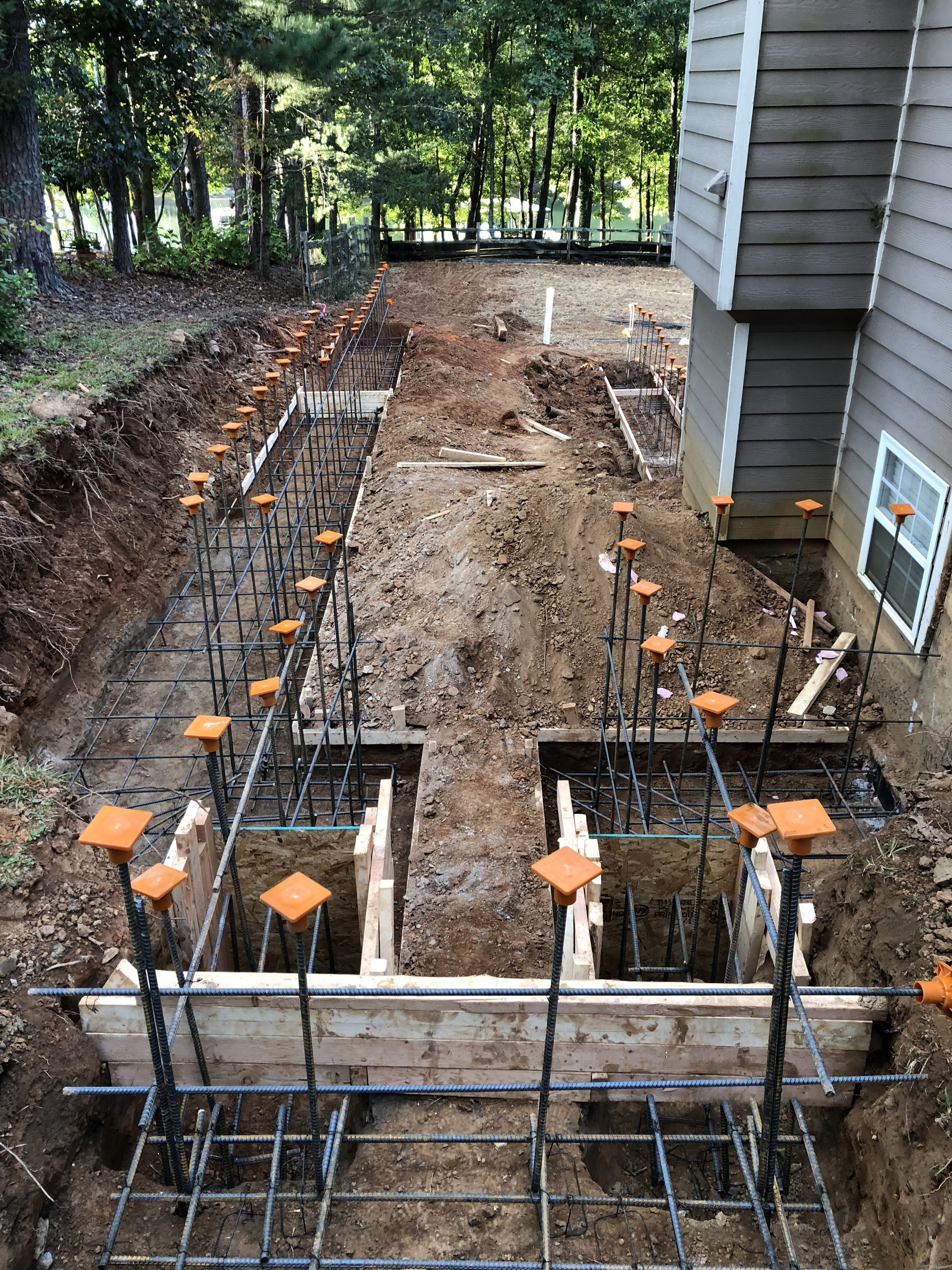 Getting ready to pour the foundation