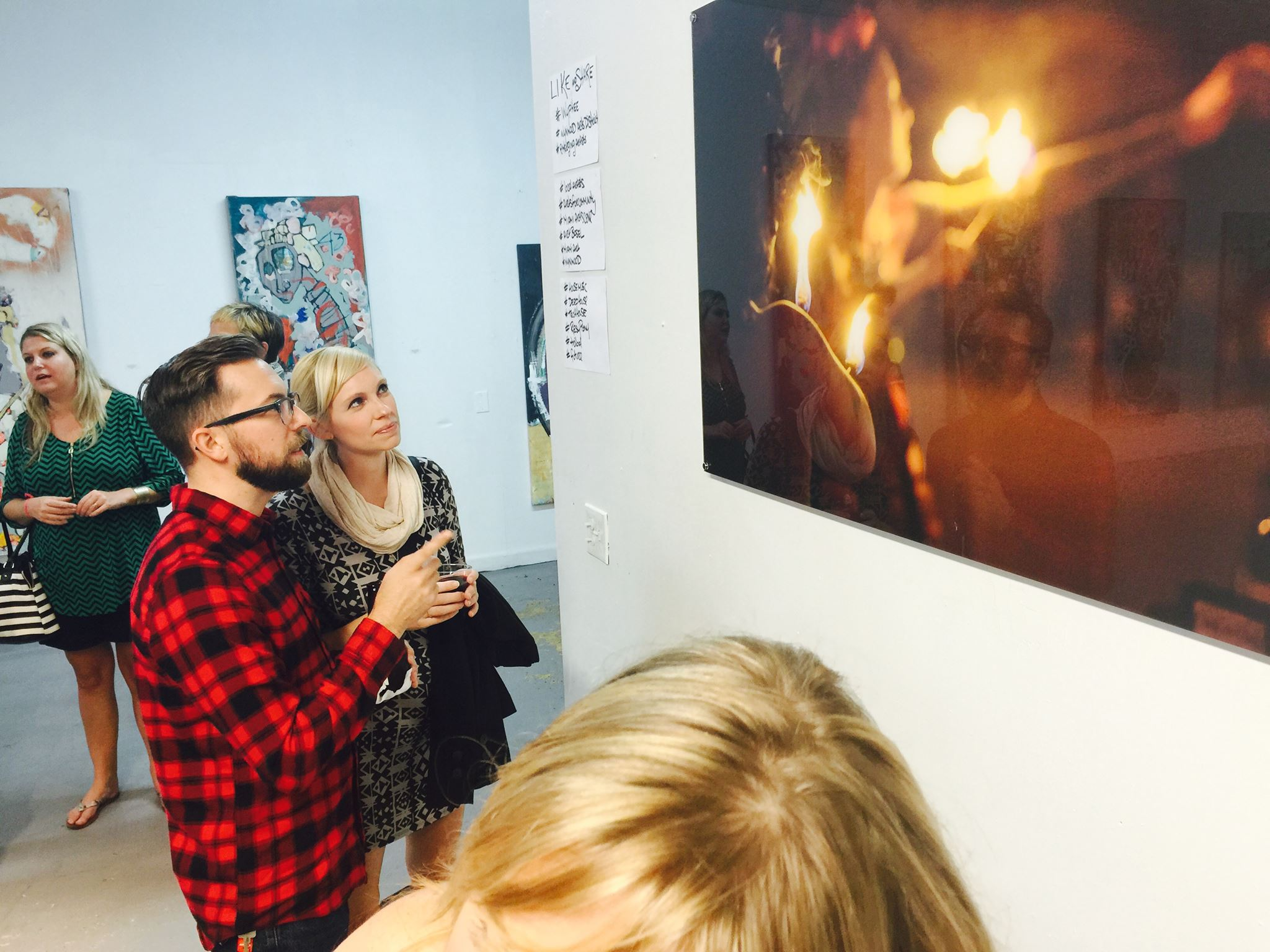 This was an absolutely incredible weekend for me.  I had 8 pieces on display at the Wy Phee Collective Gallery in Wynwood.  We raised money for Art Cares For Kids.  And I had the pleasure of watching strangers take in my work.  I met a bunch of great people and realized my life long dream of being in a major art show.