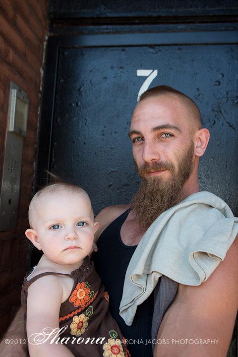 Hot Dog Safari dad and baby