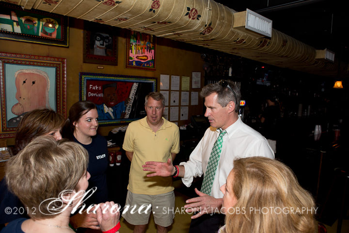 Senator Scott Brown and parents of children with Cystic Fibrosis