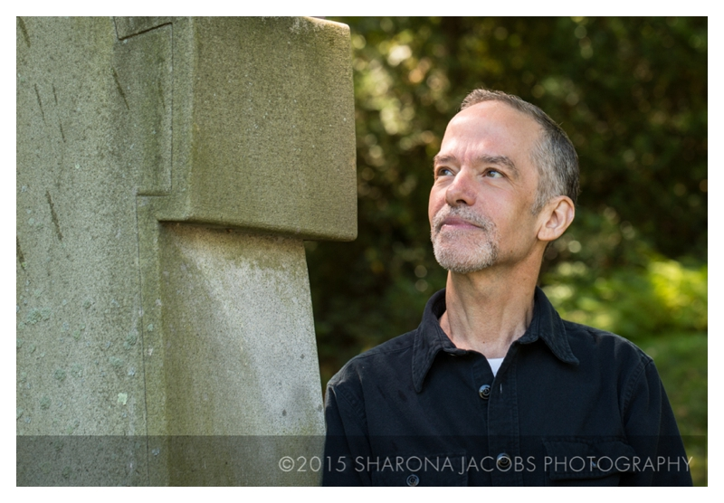 Robin Lippincott, photographed at Mt. Auburn Cemetery