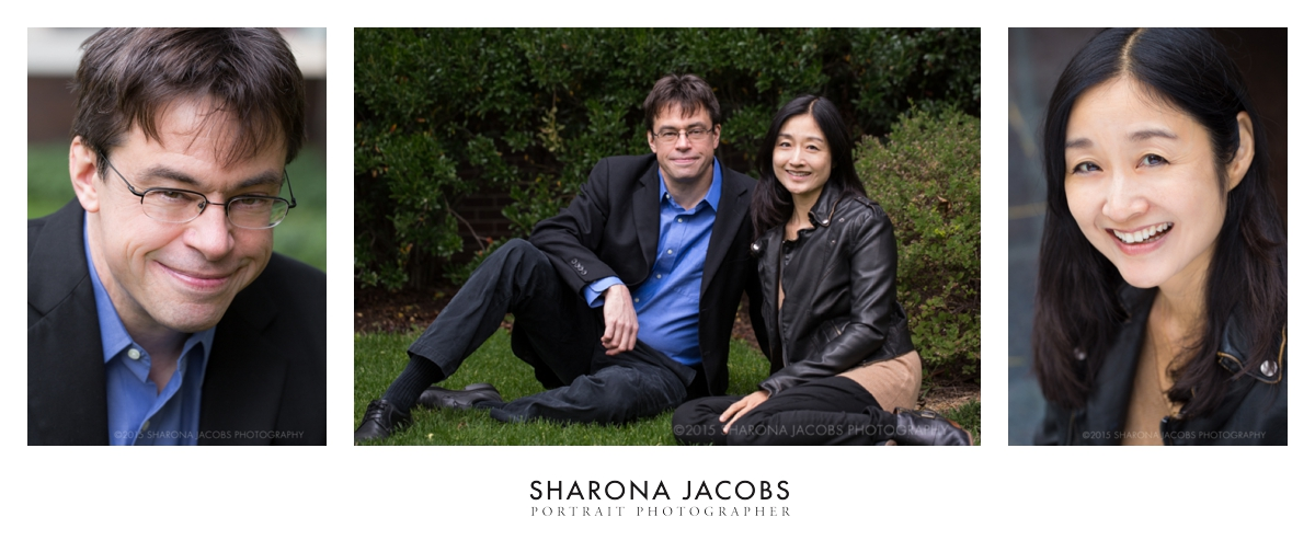 Harvard philosophy professor, Michael Puett and author Christine Gross-Loh at Harvard University. Cambridge, MA.