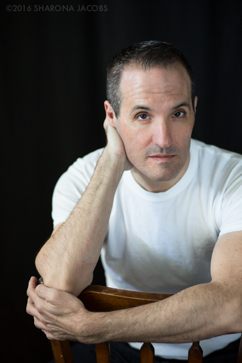 Portrait of author Mark John Isola, Boston, MA. Arlington, MA.