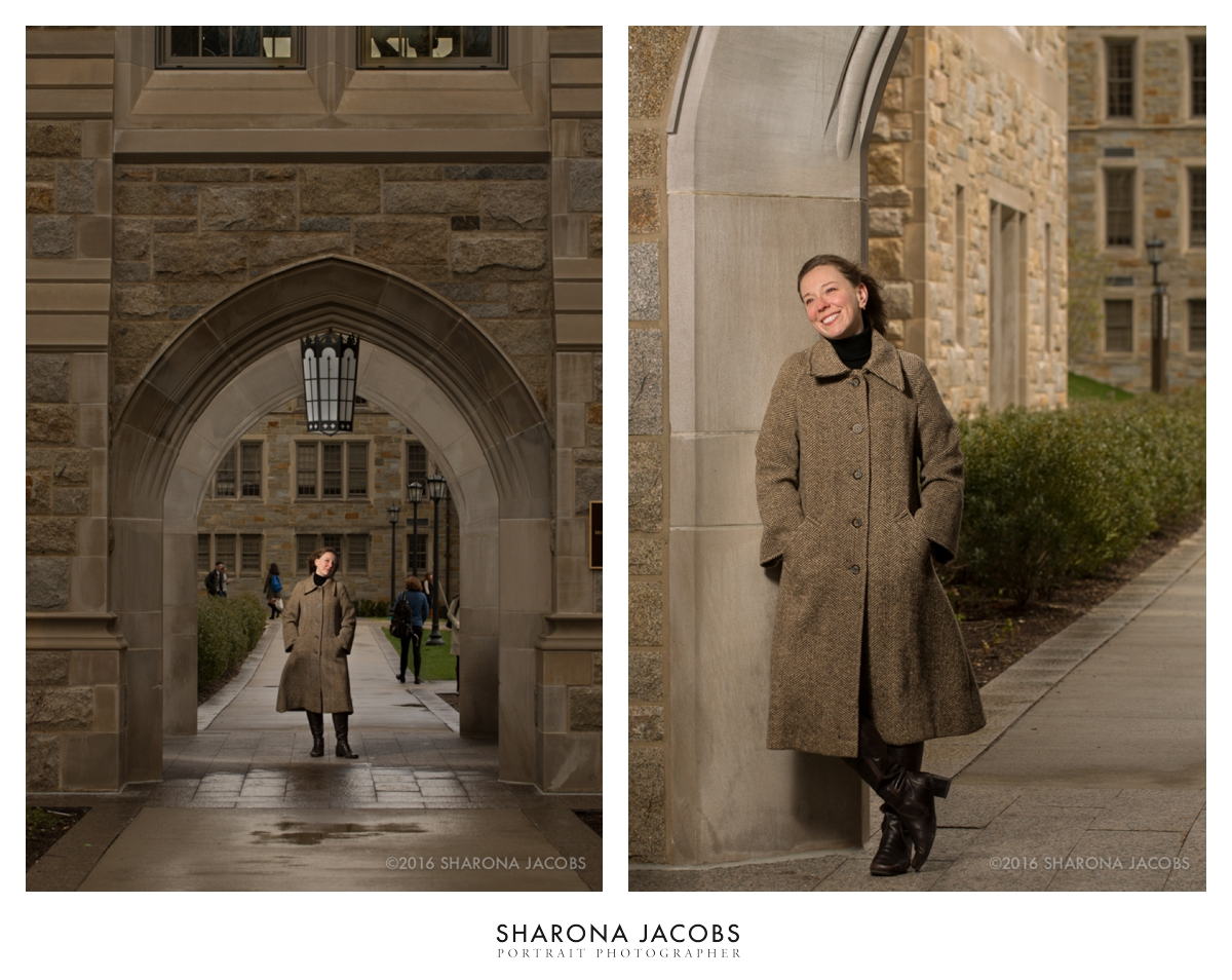 History professor, Sarah G. Ross, PhD. Boston College's Stokes Hall, Chestnut Hill, MA.