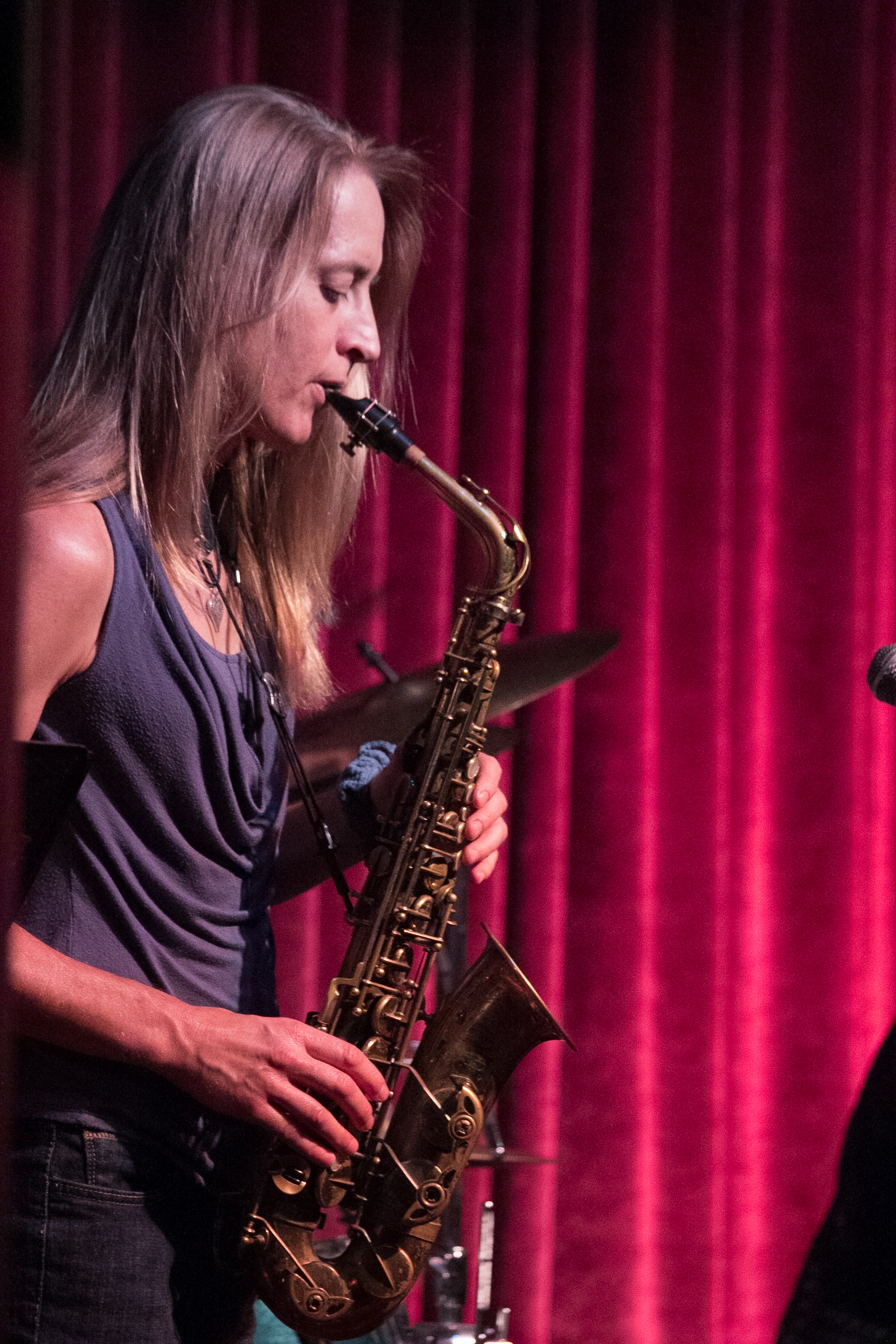 Esther's Muse presents a chord-less trio including Esther Berndt on saxophone, Kevin Murray on drums, and Kazuto Sato on bass. The trio will perform a combination of jazz standards and avant-garde improvisation, inspired by the late great Ornette Coleman.