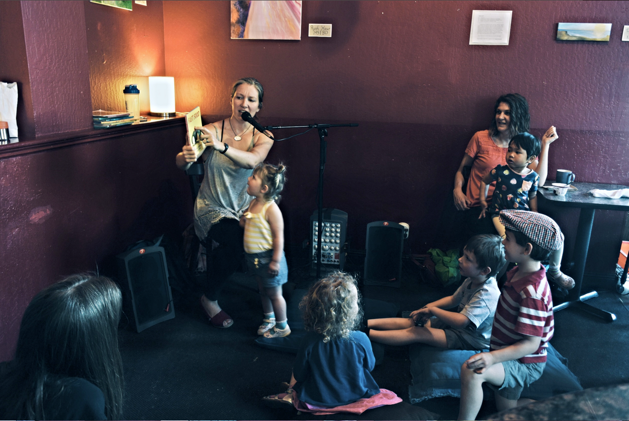 Join us for our Kids Story hour at Red Rock! Members of the Red Rock community read stories and lead the kids in song! Great for Mom, Dad, and the little ones! Things kick off at 10am and usually go for 50 Minutes to an Hour.