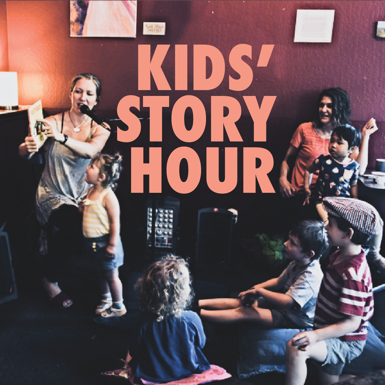 Join us for our Kids Story hour, downstairs on our 1st floor! Members of our Red Rock Community read stories and lead songs for our Red Rock kids!