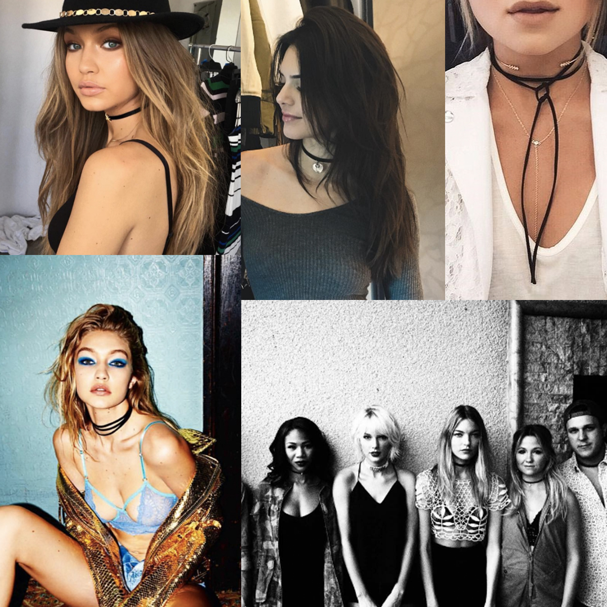 Gigi Hadid, Kendall Jenner and Taylor Swift show their chokers via Insta <3