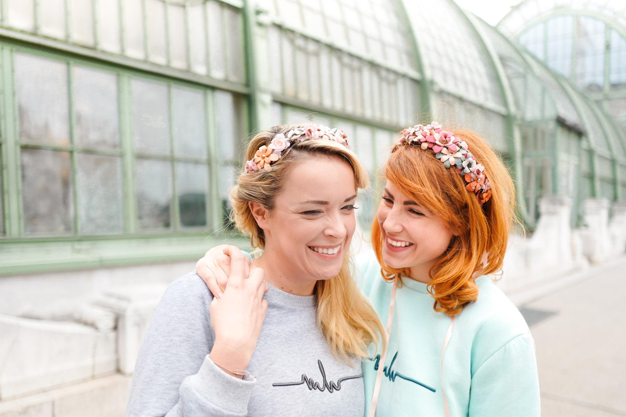 Designerin Marina Hoermanseder hat uns in Wien besucht und mit WE ARE FLOWERIRLS flowerpower versprüht!
