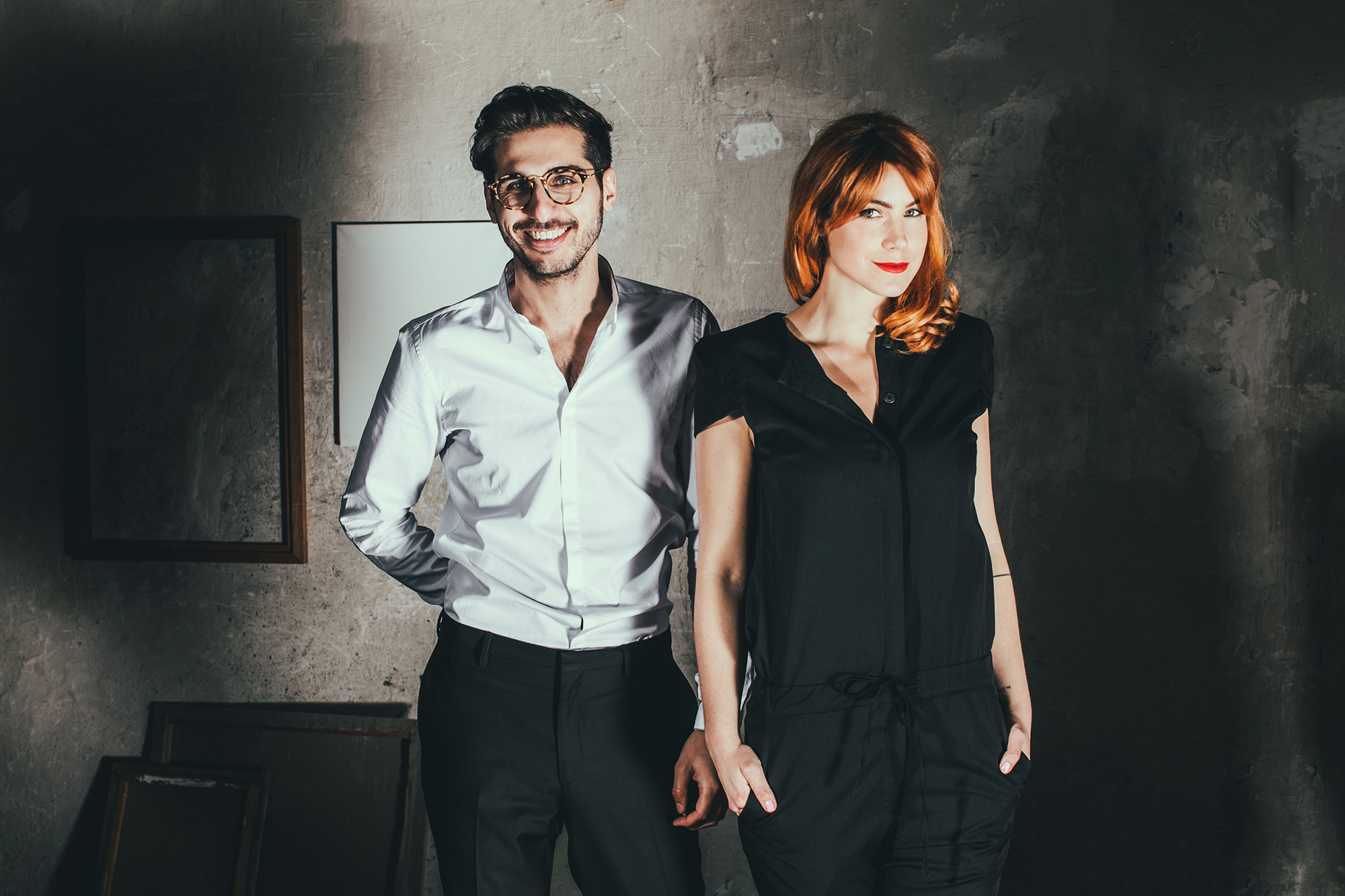 Mathias Assefi and Cecilia Capri - founders of WE ARE FLOWERGIRLS (Image by Lupi Spuma)
