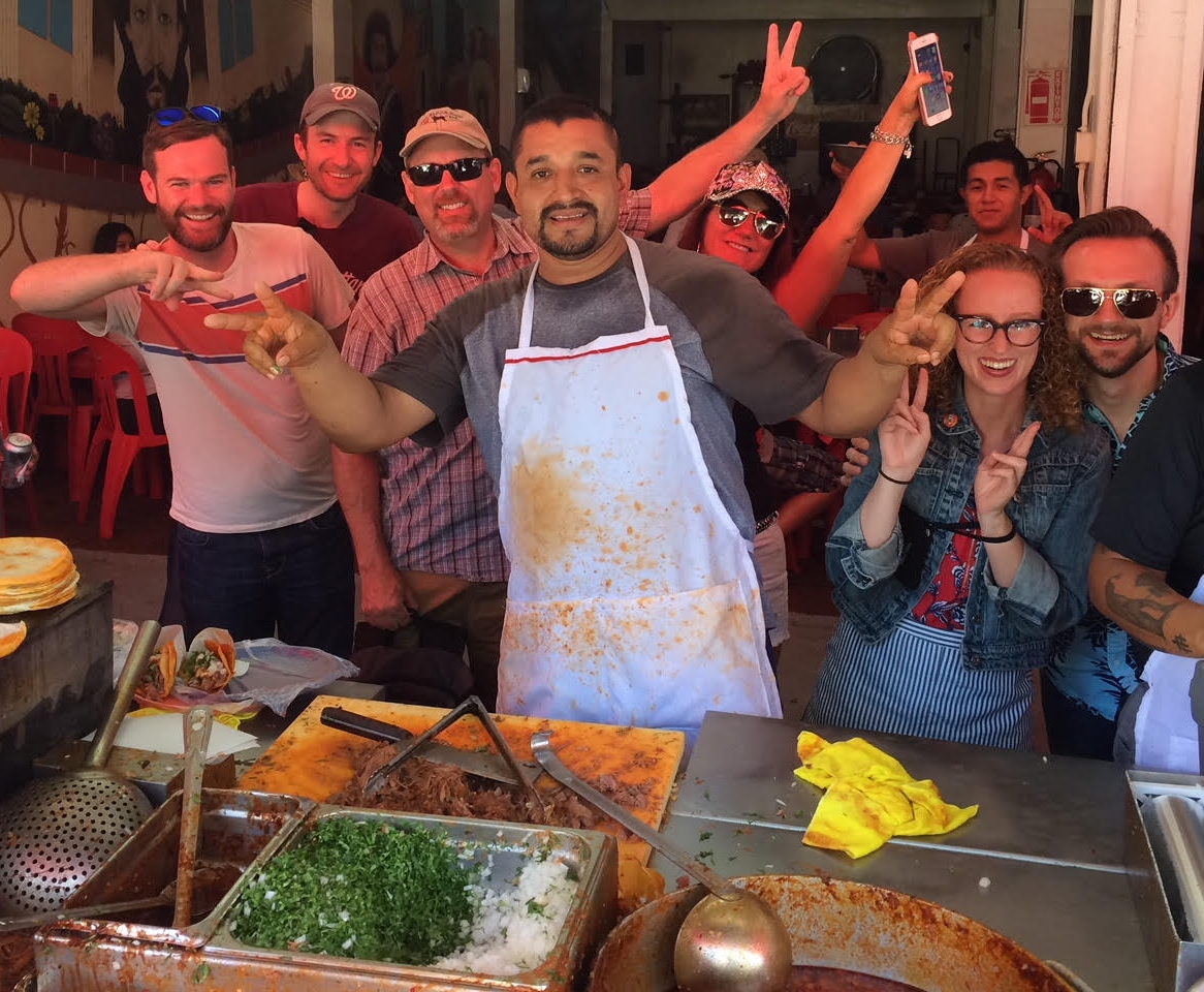 """James and his friends from Southern California called these Tacos de Birria """"the best damned taco I've ever eaten!"""" Tijuana is the taco capitol of Mexico, so the only downside of booking this tour of Tijuana's vibrant street food scene is that we might just ruin you for tacos north of the border!"""
