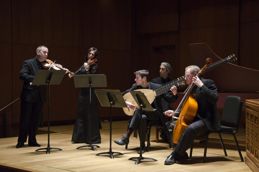 The instrumental ensemble Quicksilver provided expressive accompaniment to the vocalists.Photo: Geoffrey Silver