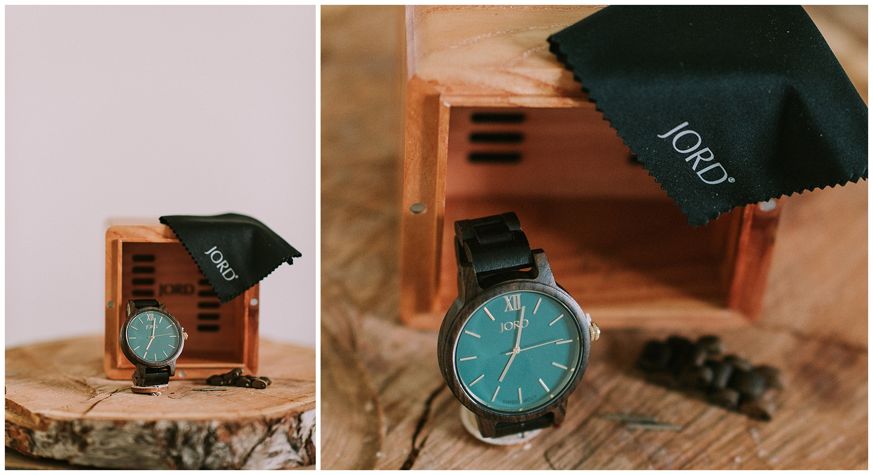 Your watch will come with extra links, screws, a buffing cloth, and a beautiful box to hold all the goodies!
