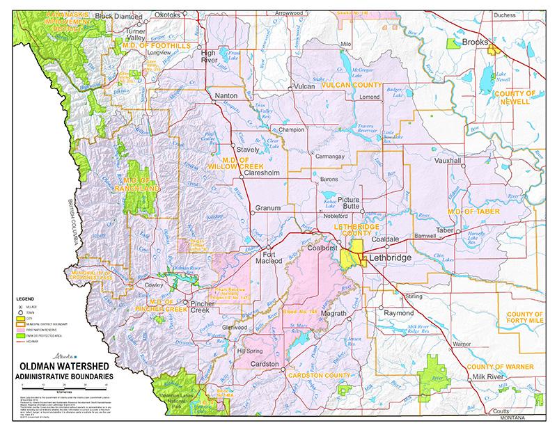 Oldman Watershed Administrative Boundaries