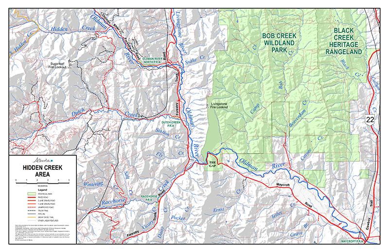 Hidden Creek Area - Detailed