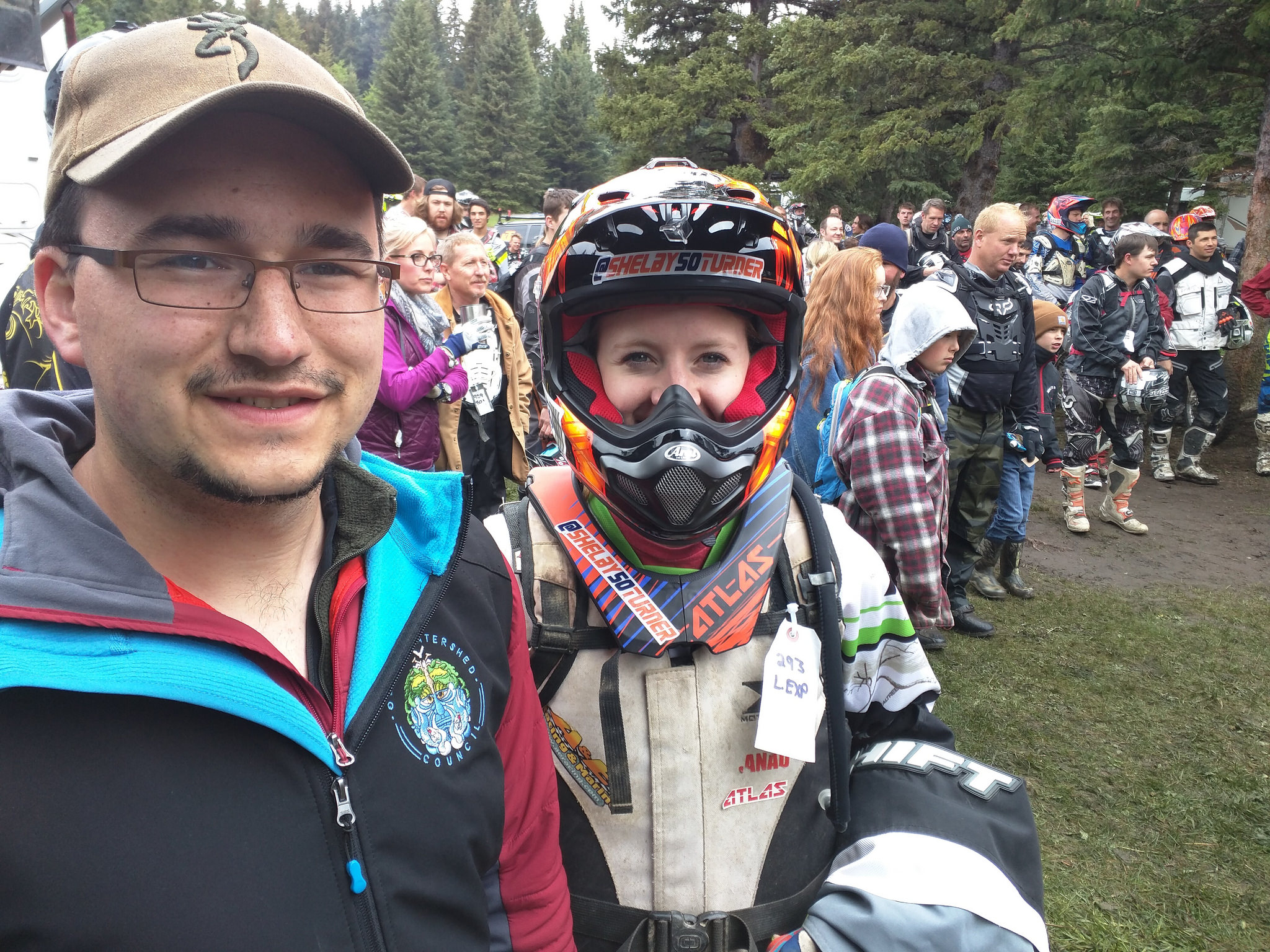 Rob Taylor with one of the Racers from the Ladies Expert series