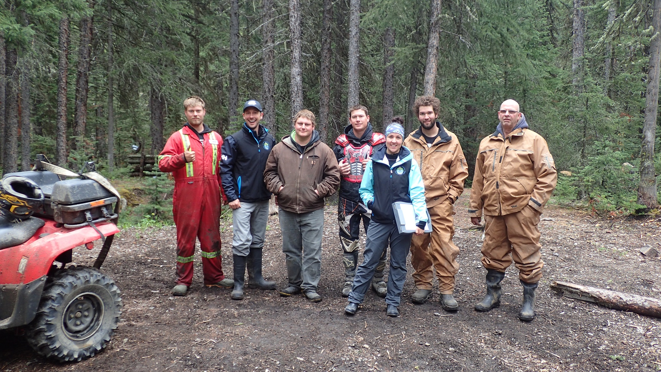 Ryan and Nicola completing the first survey of the season with a group of OHV users