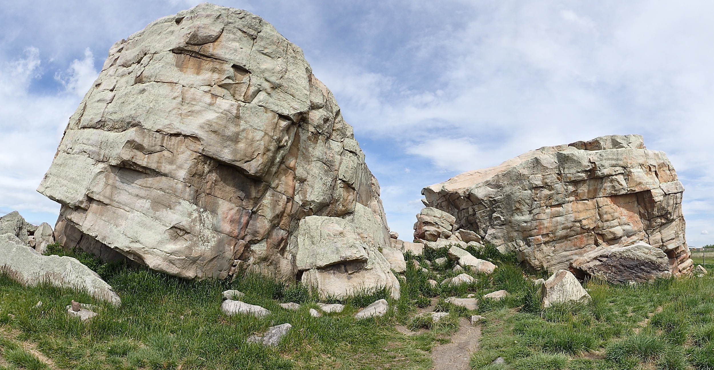 "The ""Big Rock"" glacial erratic, part of the oral history of the Blackfoot people"