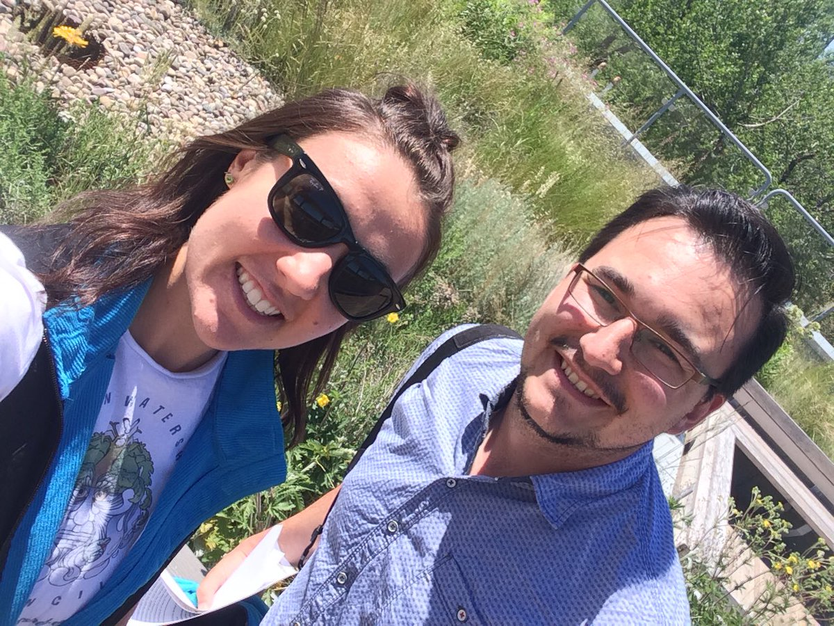 Outreach Assistants Rob and Nicola at Helen Schuler Nature Centre's Nature Scavenger Hunt!