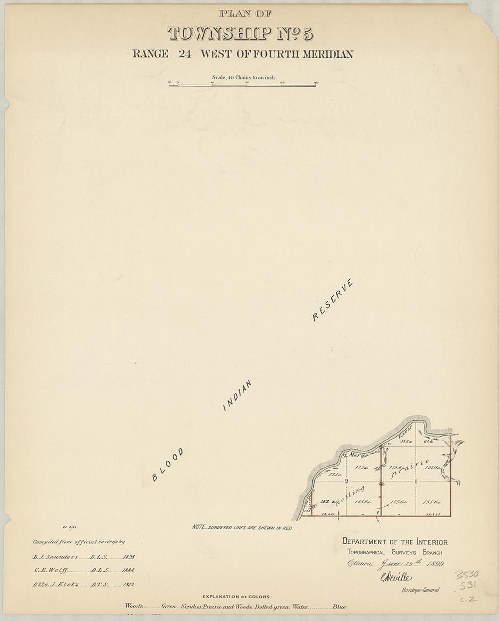 Plan of Township No.5