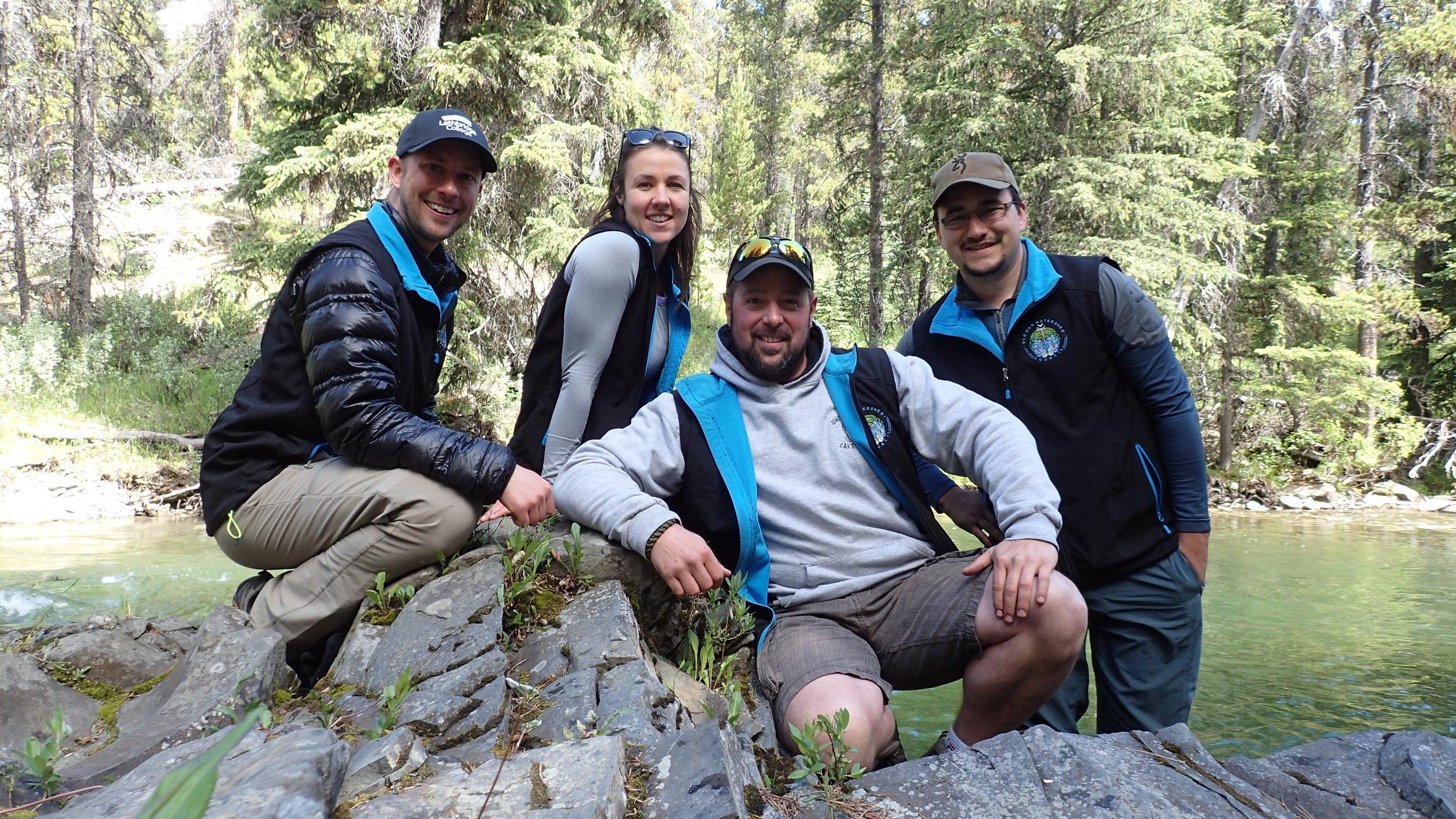 L-R: Ryan, Nicola, Thomas and Rob.