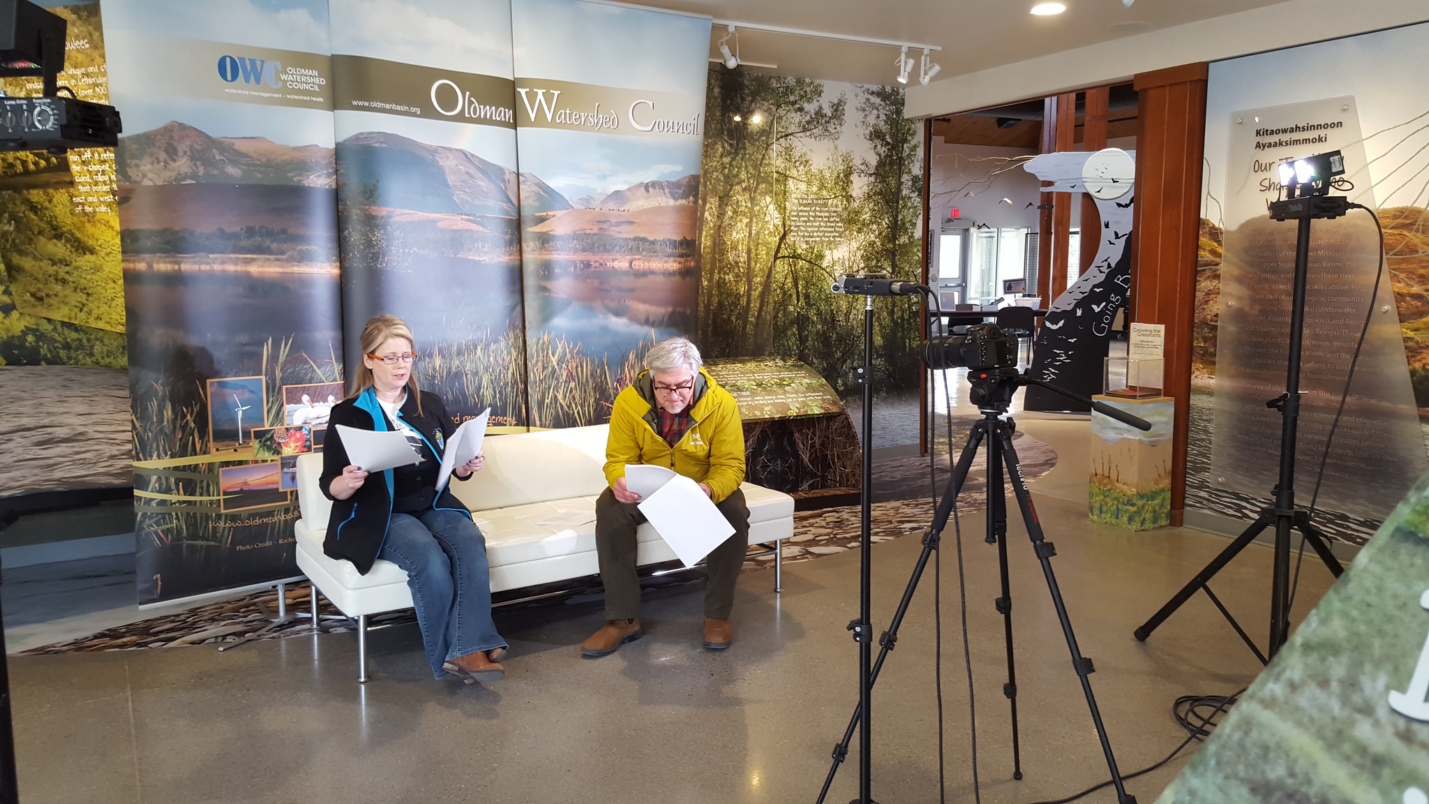 One of the videos features Anna Garleff, OWC Communications Specialist, and Doug Kaupp, City of Lethbridge General Manager of Water and Wastewater, discussing the science behind Lethbridge's innovative wastewater treatment plant.