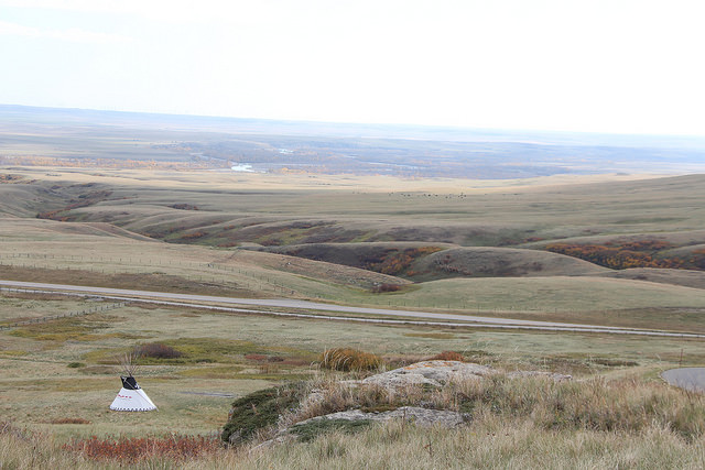 Rough fescue grasslands overlooking the Oldman River from Head-Smashed-In Buffalo Jump