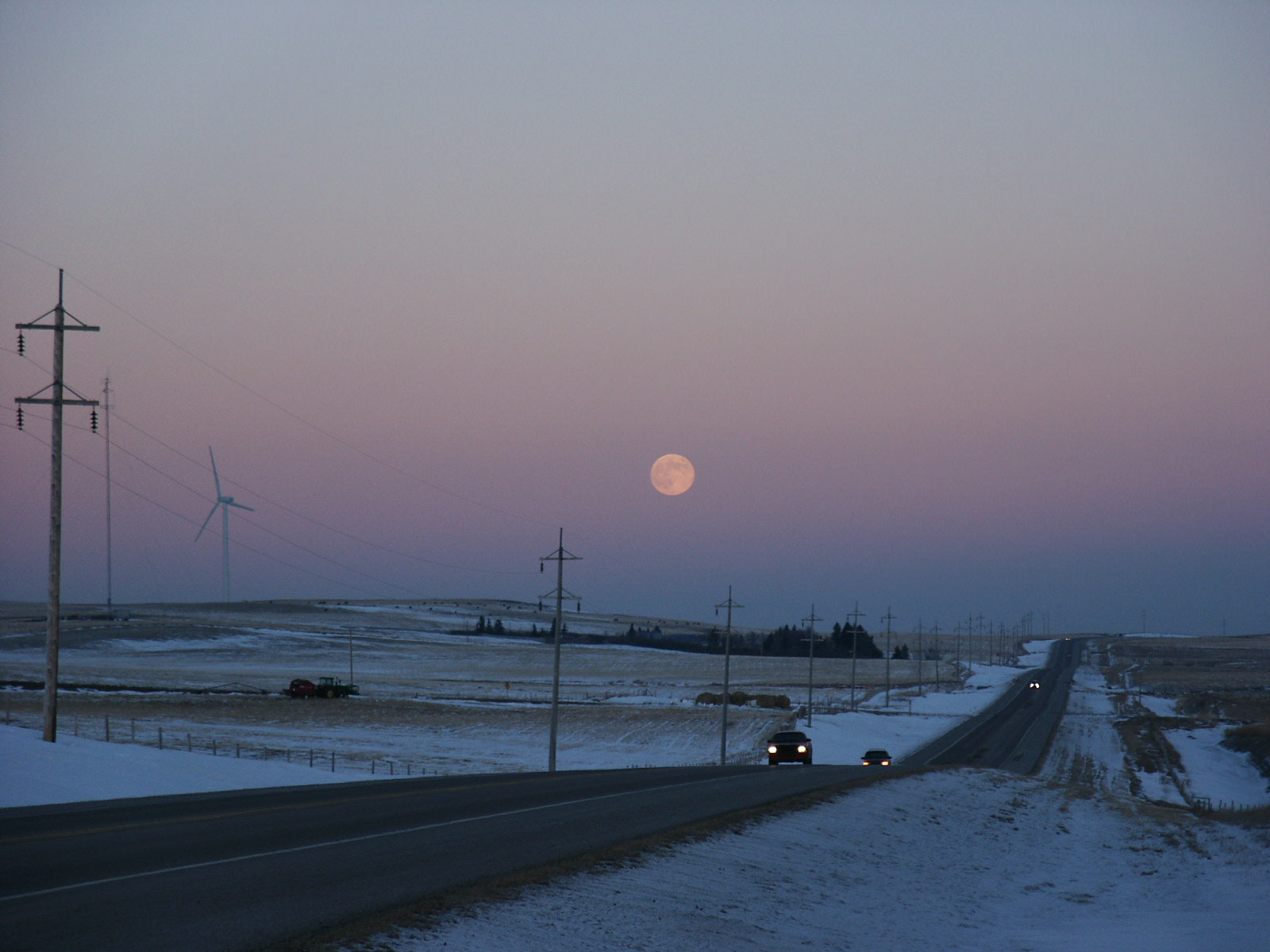 With each additional footprint on the land also comes the need for roads and power lines.  Photo by Brian Taylor.
