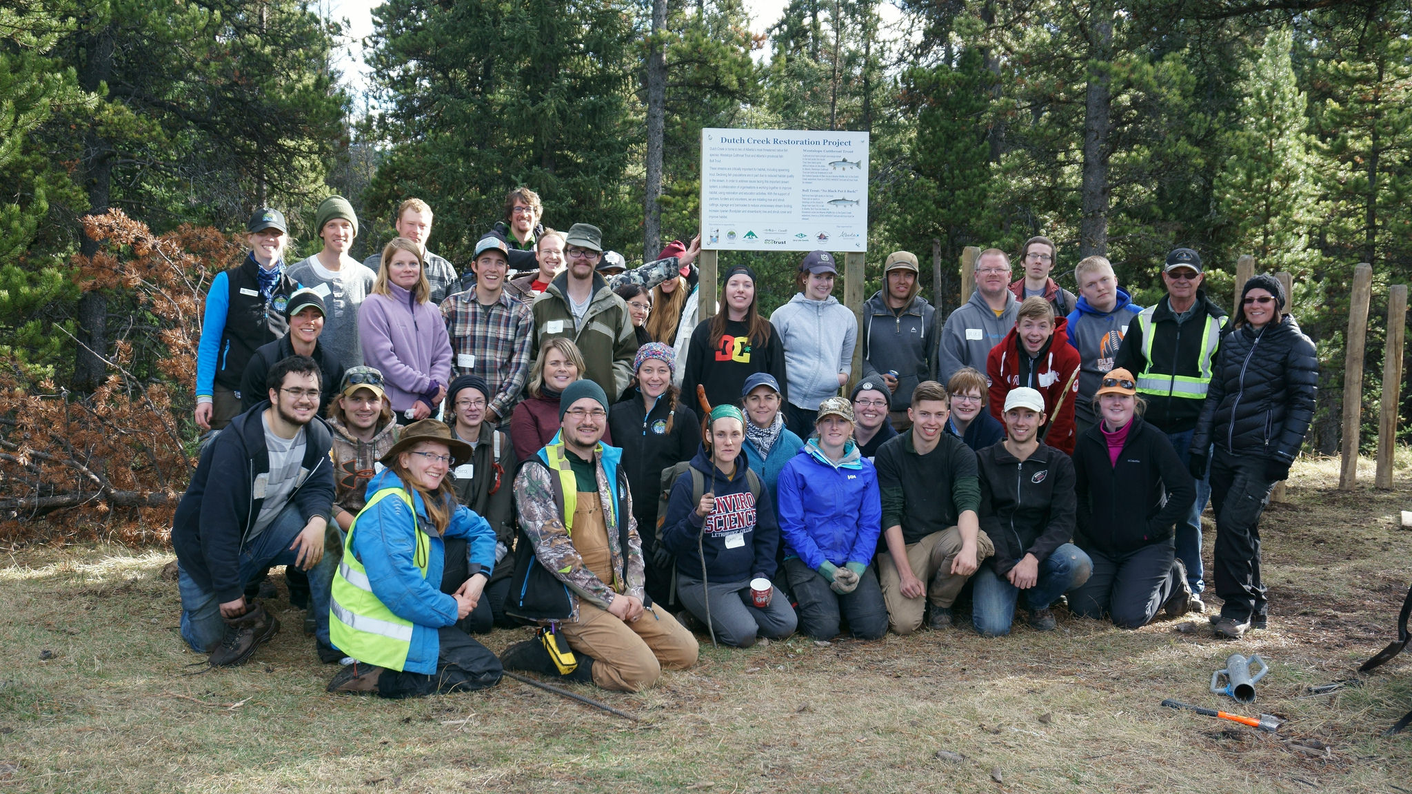 Joint OWC/Cows and Fish Restoration event in Dutch Creek, October 21, 2016