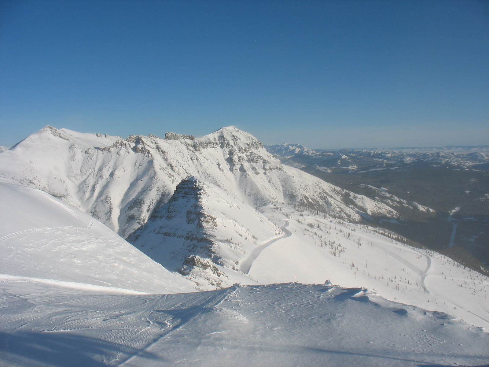 View from the Top of the Castle Mountain Ski Hill. Photo Credit:Jollin Charest