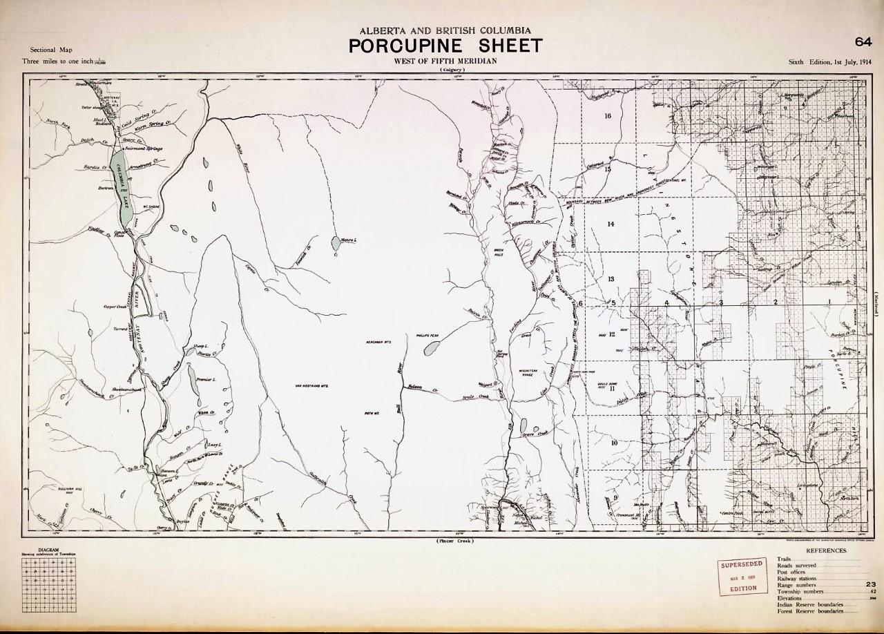 Alberta and British Columbia Porcupine Sheet
