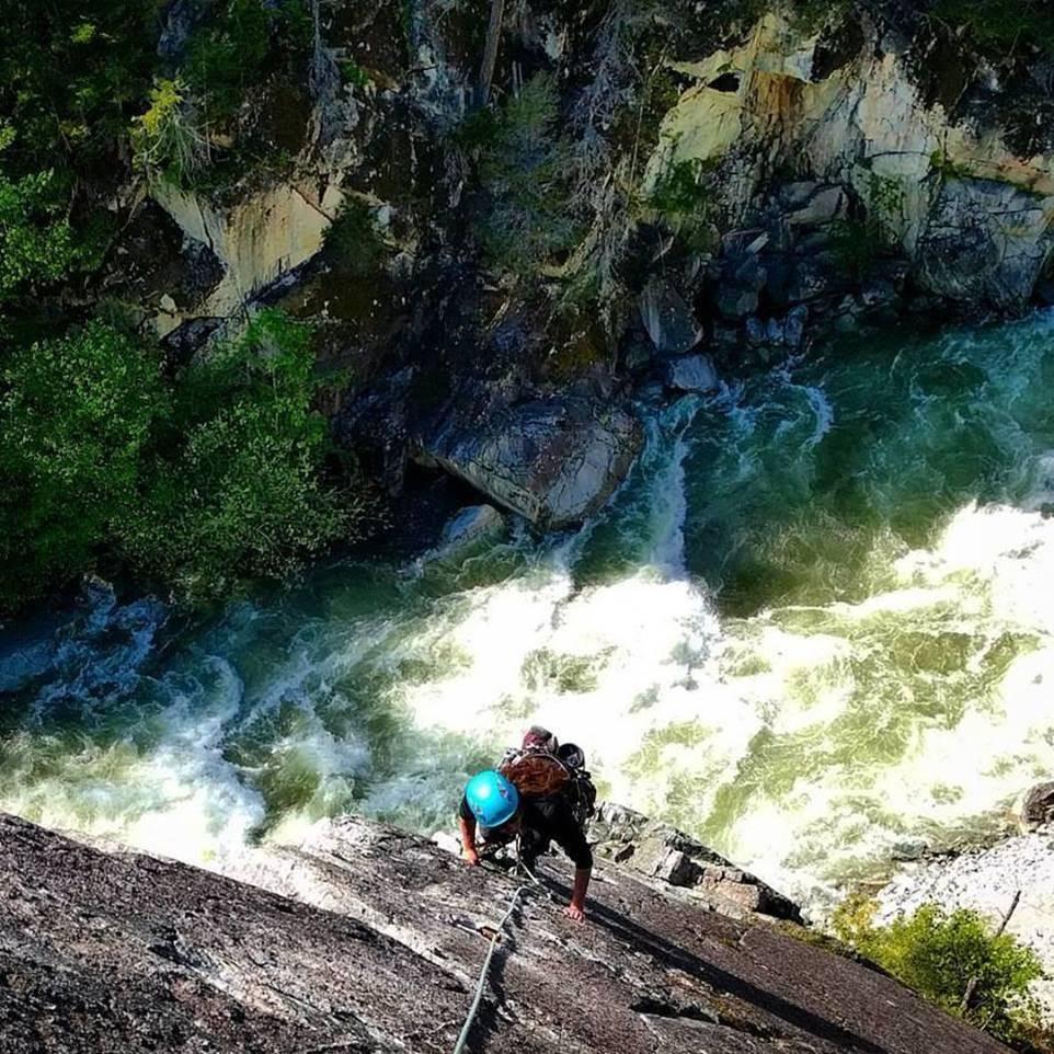 Nata climbing in Squamish, BC
